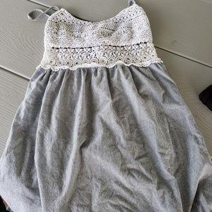 Striped Dress, Adjustable Straps, Zipper